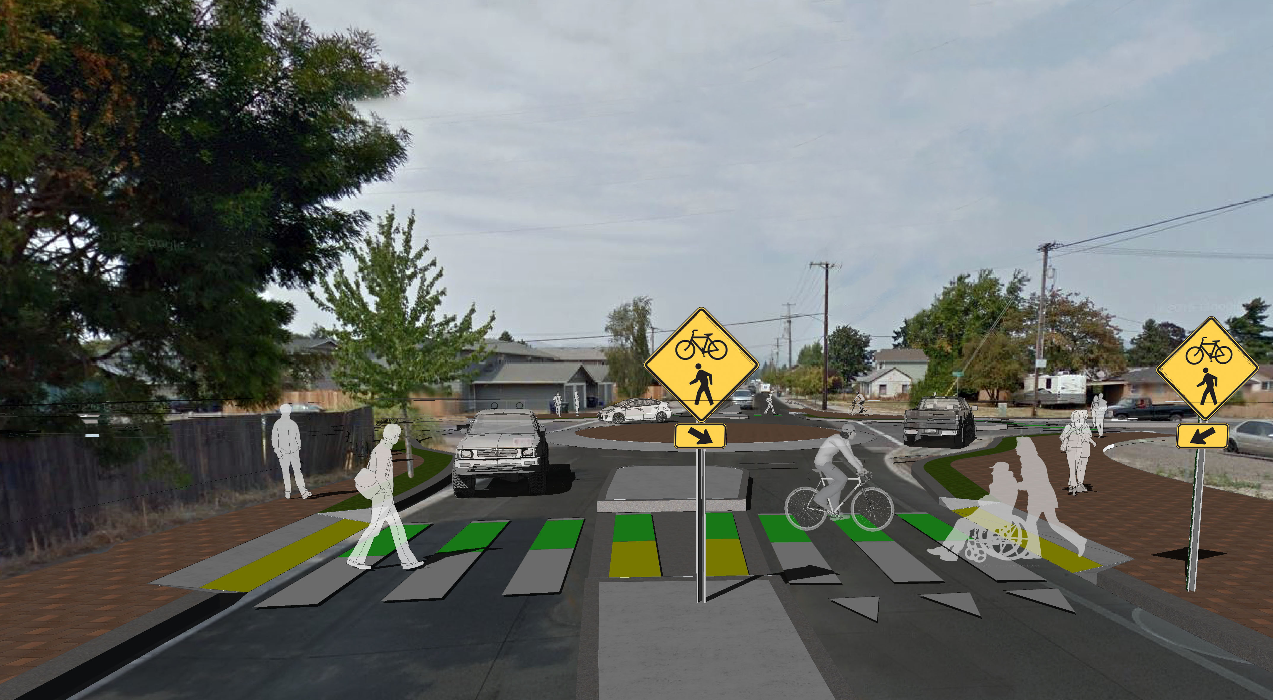 42nd St Intersection Roundabout Design Concept