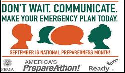 Don't Wait Communicate - Make Your Emergency Plan Today