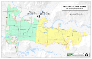 Leaf collection zone map