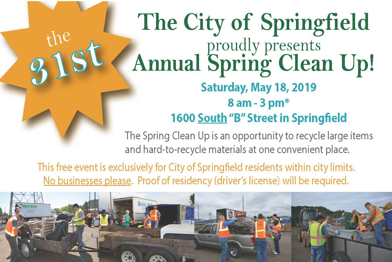Spring Clean Up Web banner information