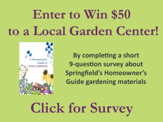 Click to complete survey and enter drawing for $50 to a local garden center