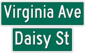 Virginia-Daisy Street Signs