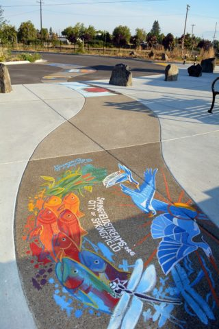Murals at Booth-Kelly Trailhead