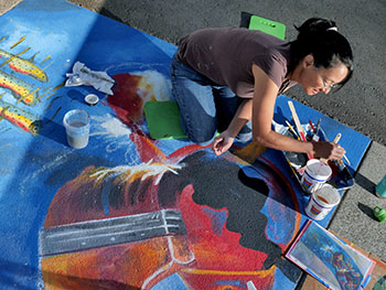 UpStream Art mural painting