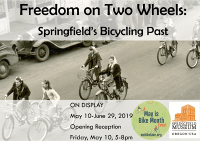 Springfield's Bicycling Past Museum Exhibit Poster
