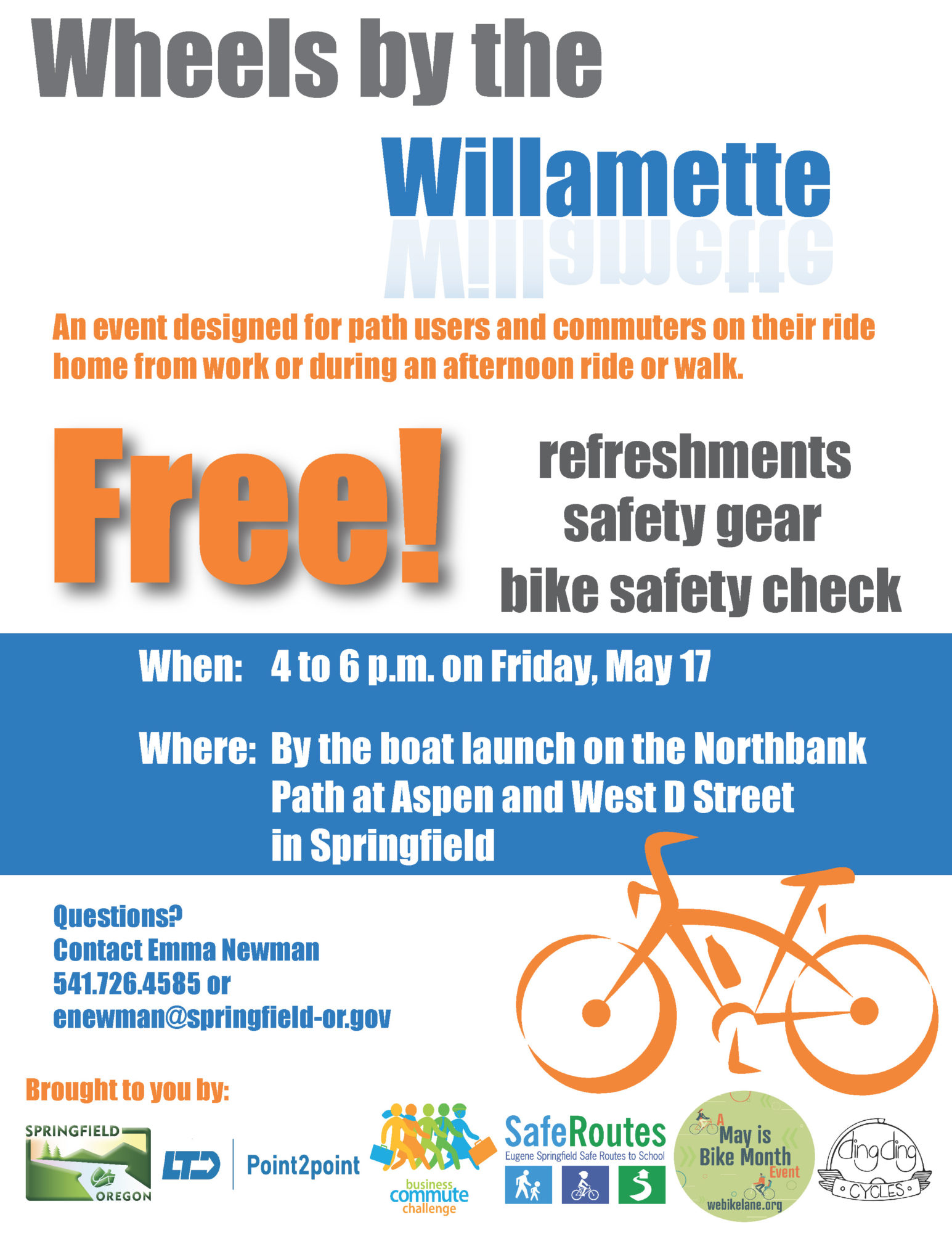 Wheels by the Willamatte Poster