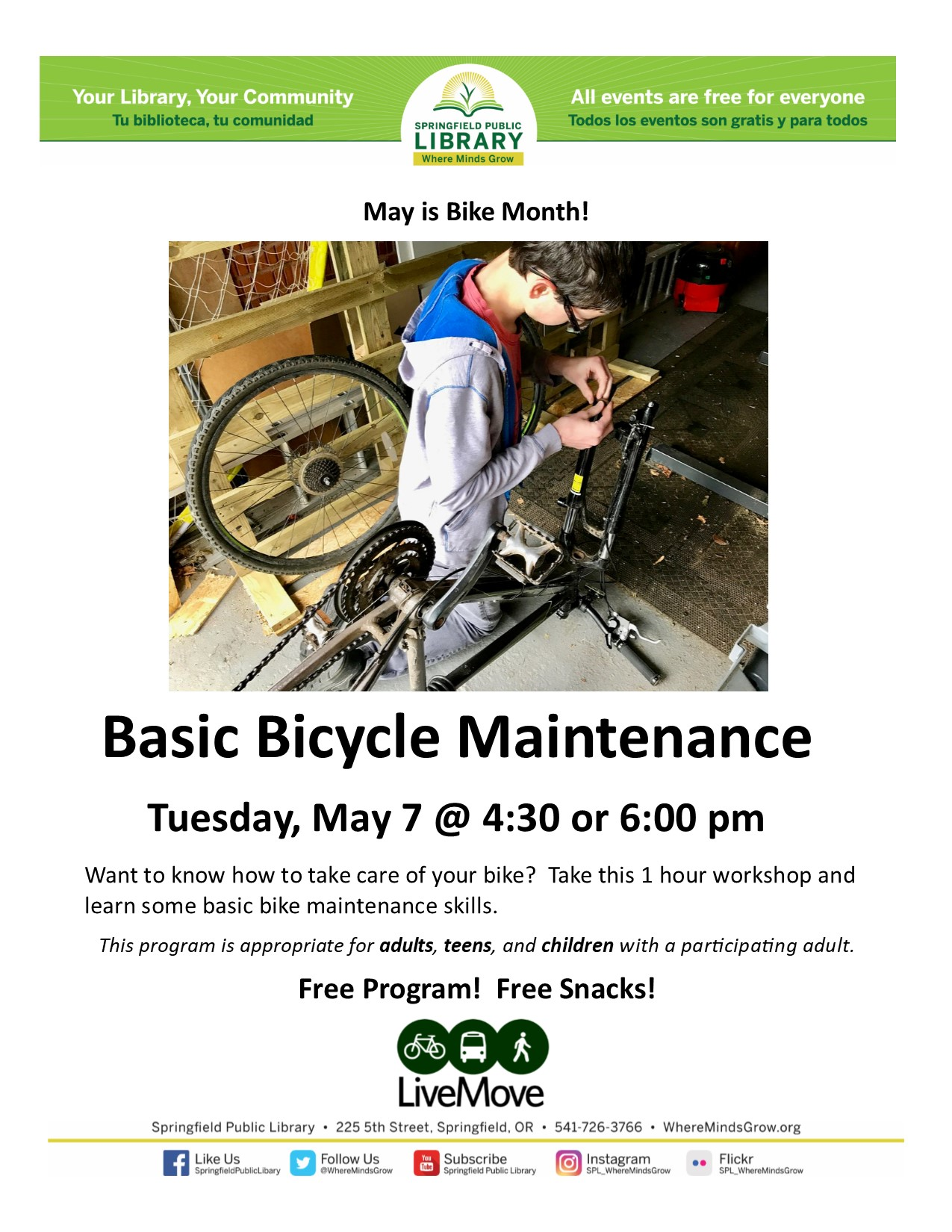 Basic Bicycle Maintenance Event Poster