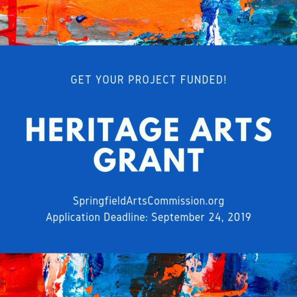 Heritage Arts Grant flyer