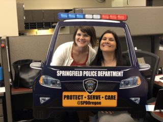 Springfield police cardboard vehicle cutout