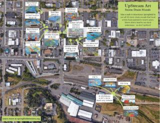 UpStream Art Mural Map