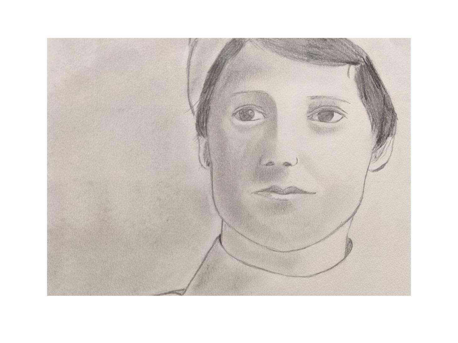 Sketch of a self portrait