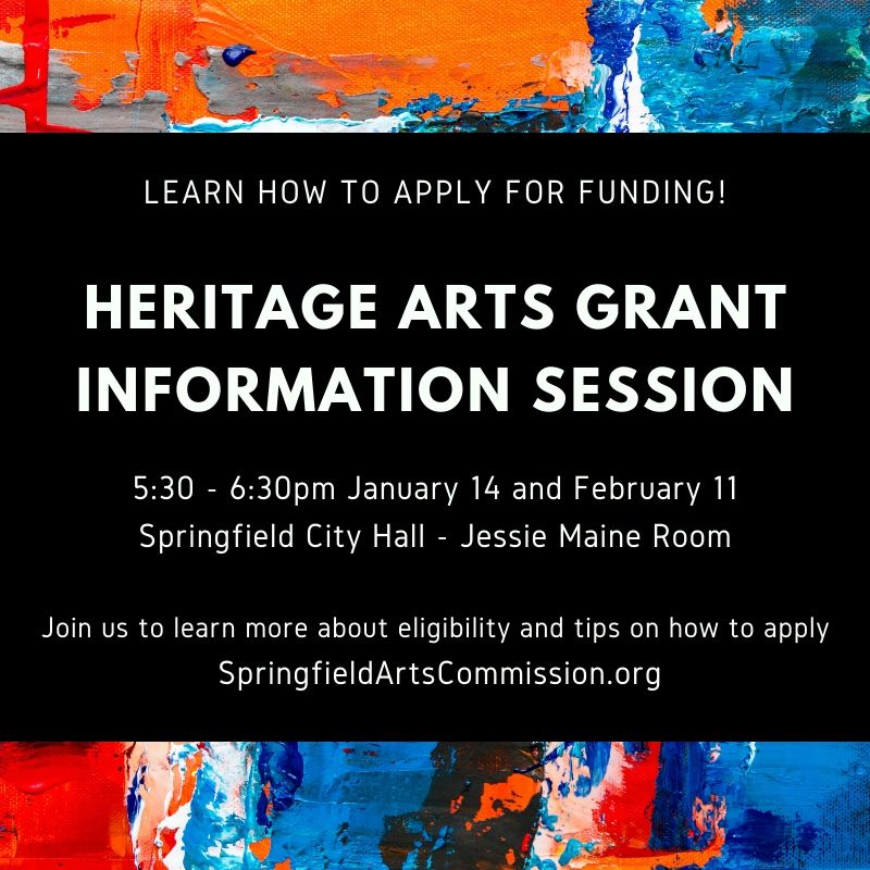 Heritage Art Grant Information Session dates