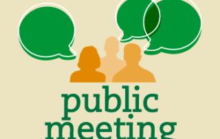 Public Meeting Graphic Image