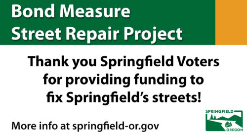 Bond Measure Thank You Street Sign