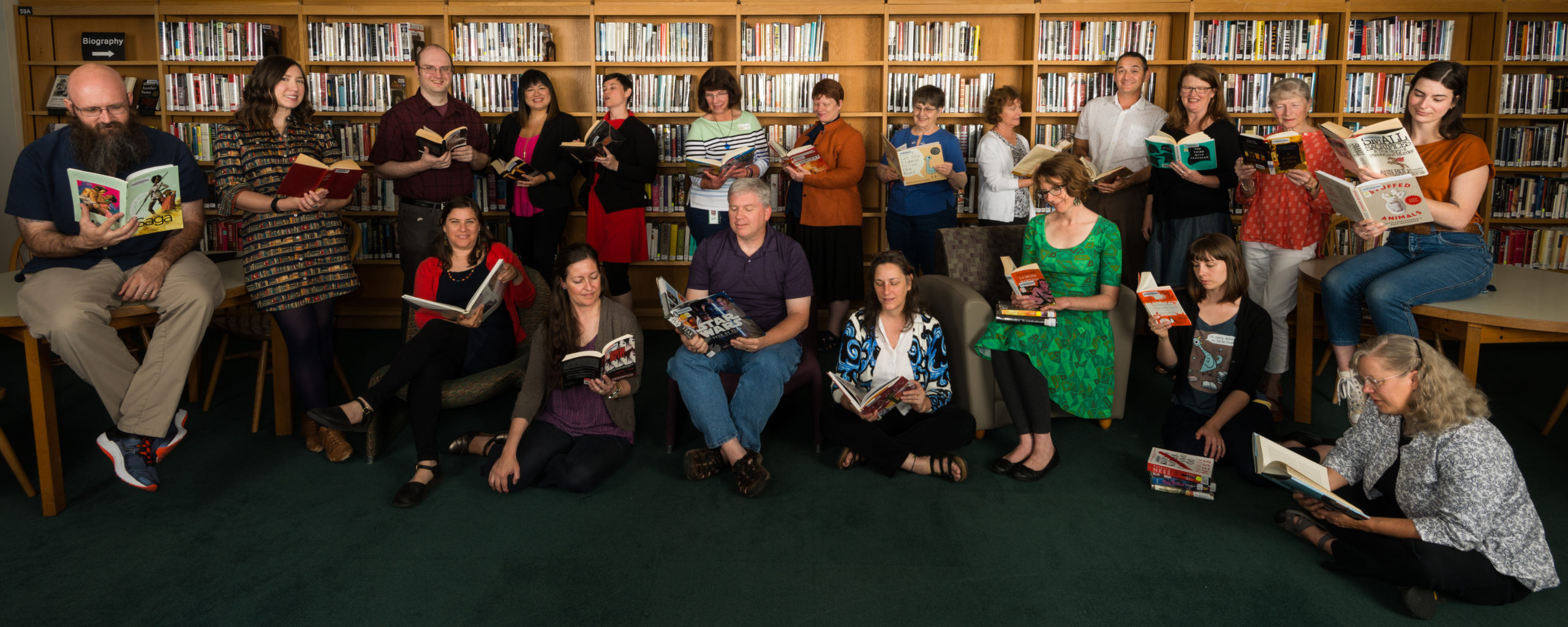 Photo of Library Staff