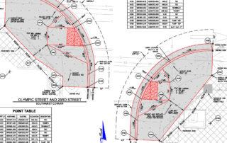 AutoCad Drawing of Street Repair for Bond Measure